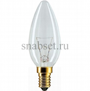 Лампа накаливания PHILIPS STANDART B35 40W 230V E14 (CL)