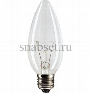 Лампа накаливания PHILIPS STANDART B35 60W 230V E27 (CL)