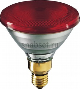 Лампа накаливания PHILIPS PAR38 IR 175W 230V Red E27