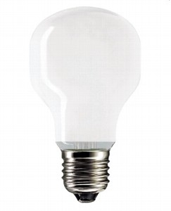 Лампа накаливания PHILIPS Soft 75W 230V T55 WH E27