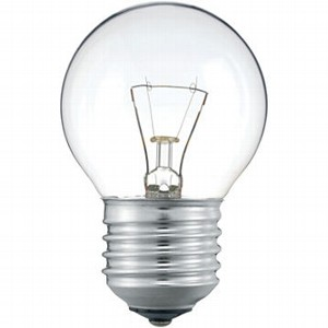 Лампа накаливания PHILIPS STANDART 25W 230V P45 E27 (CL)