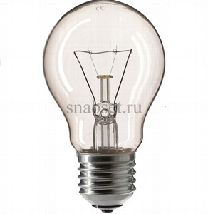 Лампа накаливания PHILIPS STANDART 75W 230V A55 E27 (CL)